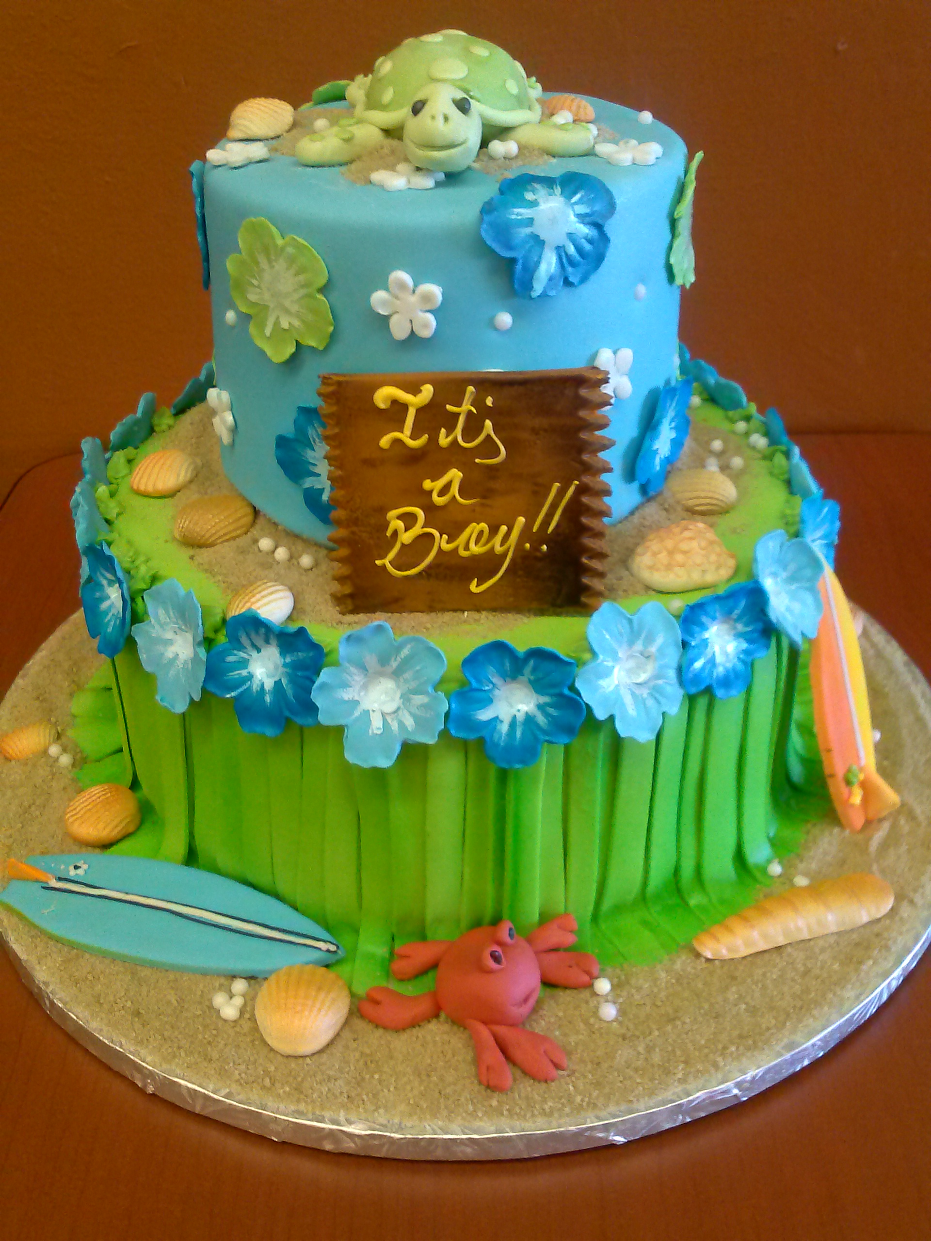 Beach Themed Baby Shower Cake